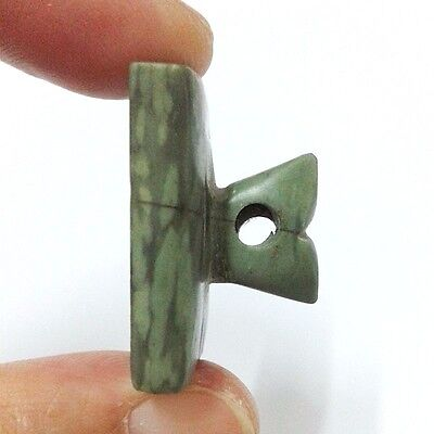 Old Near Eastern Intaglio Animal Carving Jade Stone Stamp Collectible Green 3
