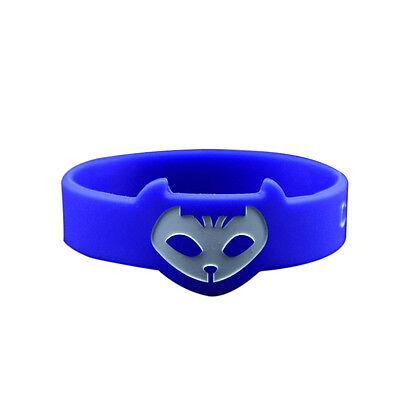 3X PJ Masks Costumes Dress Wristband Catboy Owlette Gekko Silicone Bracelets Toy