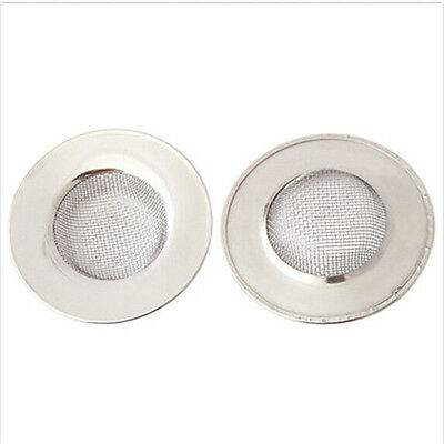 3 of 5 Stainless Steel Mesh Sink Strainer Drain Stopper Kitchen Filter Bath Hair Trap A