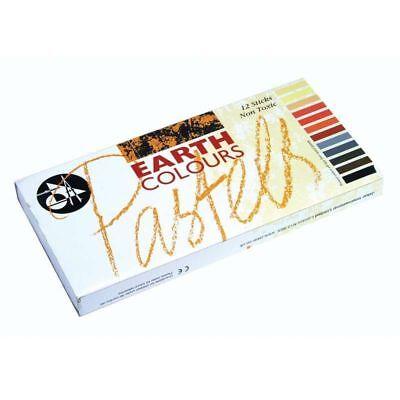 12 Set Jakar Assorted Earth Colour Artist Pastels Art Sketching Drawing Sticks 3