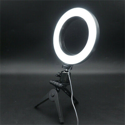 LED Ring Light Lamp Selfie Camera Phone Studio Tripod Stand Photo Video Dimmable 11