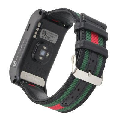 Replacement Nylon Canvas Watchband Wrist Band Strap For Garmin VIVOACTIVE HR UK 12