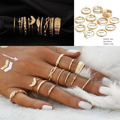 12 Pcs/Set Midi Finger Rings Set Knuckle Ring Fashion Jewelry Women Gift 3