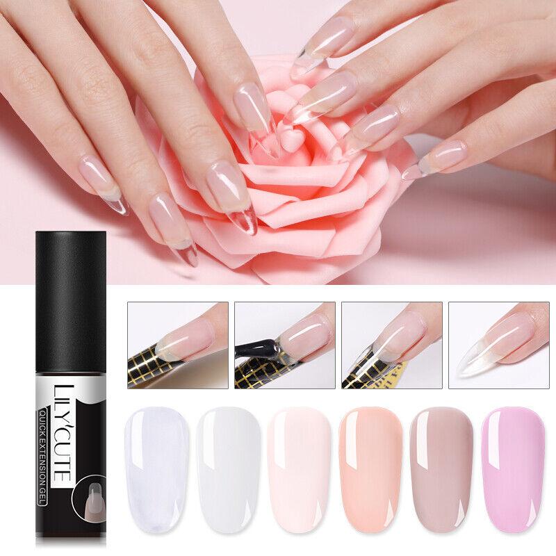 LILYCUTE Quick Extension UV Gel Nail Art Semi Permanent Vernis à ongles Tools 12