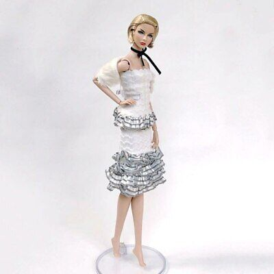 1set High Fashion Doll Clothes for 1/6 Doll Outfits Top Shirt & Skirt & Shawl 3
