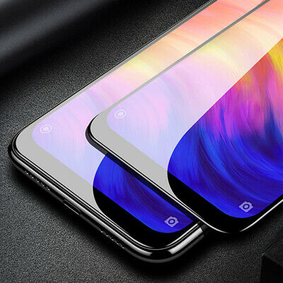 For Xiaomi Redmi Note 7 Full Cover 9D Curved Tempered Glass Screen Protector d6 2