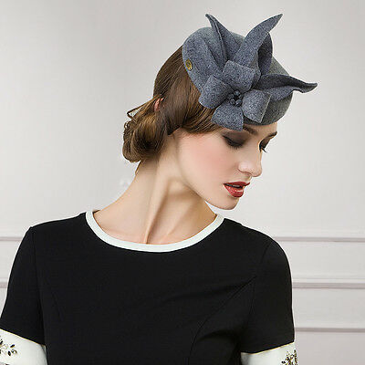491c1f77a5f 2 of 6 Ladies Felt Wool Fascinator Cocktail Formal Race Cheltenham Fesitval  Hat A302