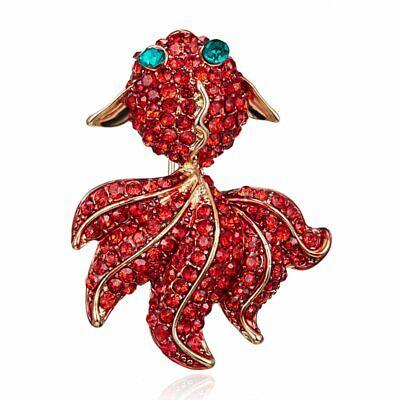 Hot Sale Rhinestone Crystal Animal Butterfly Cat Dog Brooch Pin Women Jewelly 11