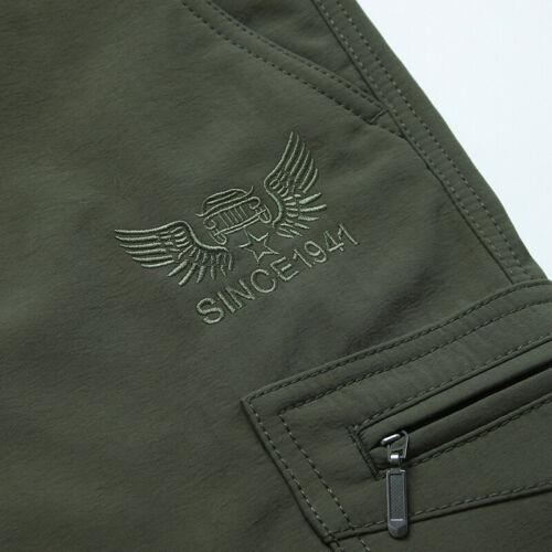 Men's Thermal Winter Pants Fleece Lined Elasticated Work Cargo Combat Trousers 5