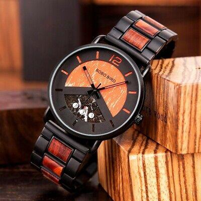 Luxury Design BOBO BIRD - Sports Japanese Quartz Wrist Watch - Men Casual 43mm 2