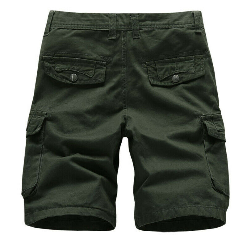 Mens Cargo Combat Work Shorts Trousers Army Military Hiking Camping Half Pants 12