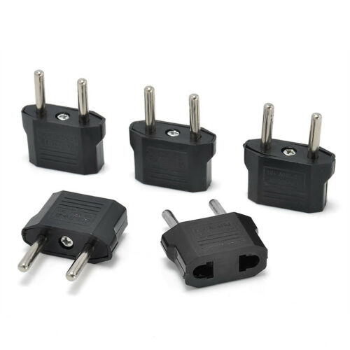 5Pcs USA US To EU Europe Euro Travel Charger Power Adapter Converter Wall Plug 2