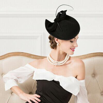 Ladies Felt Wool Fascinator Cocktail Formal Wedding Bridal Hat Headpiece CK024 7