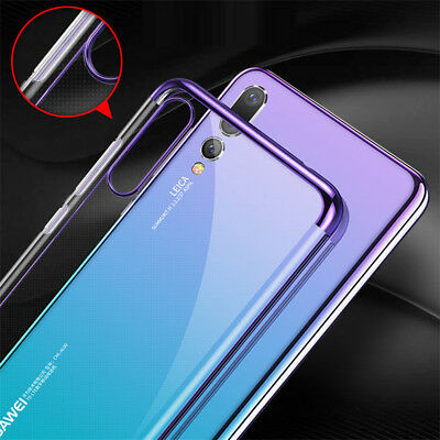For Huawei P Smart 2019/ P30 P20 Lite Pro Plating Silicone Hybrid Case Cover 8