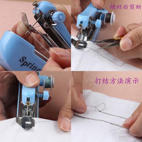 Mini macchina da cucire a mano portatile cordless tessuto portatile WQQ 2