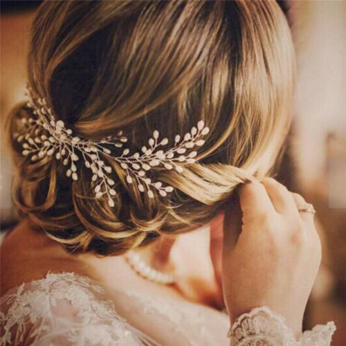 Accessori per capelli da sposa gioielli da sposa in perle 2 2 di 7 ... 9bb8d9886682