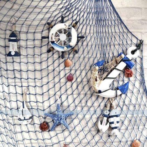 Fischernetz Beige dicke Baumwolle Deko Netz Badezimmer Wand Deko Muschel Mode w/
