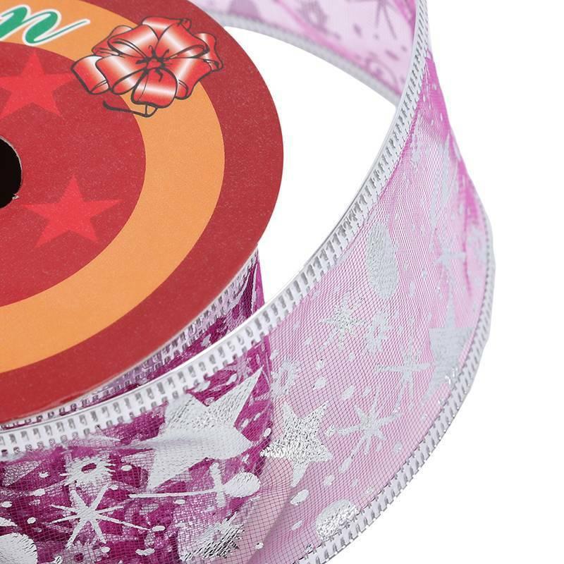 Christmas Organza Ribbon Sparkly Gift Wrap Tying Wreath Tree Decoration J 9