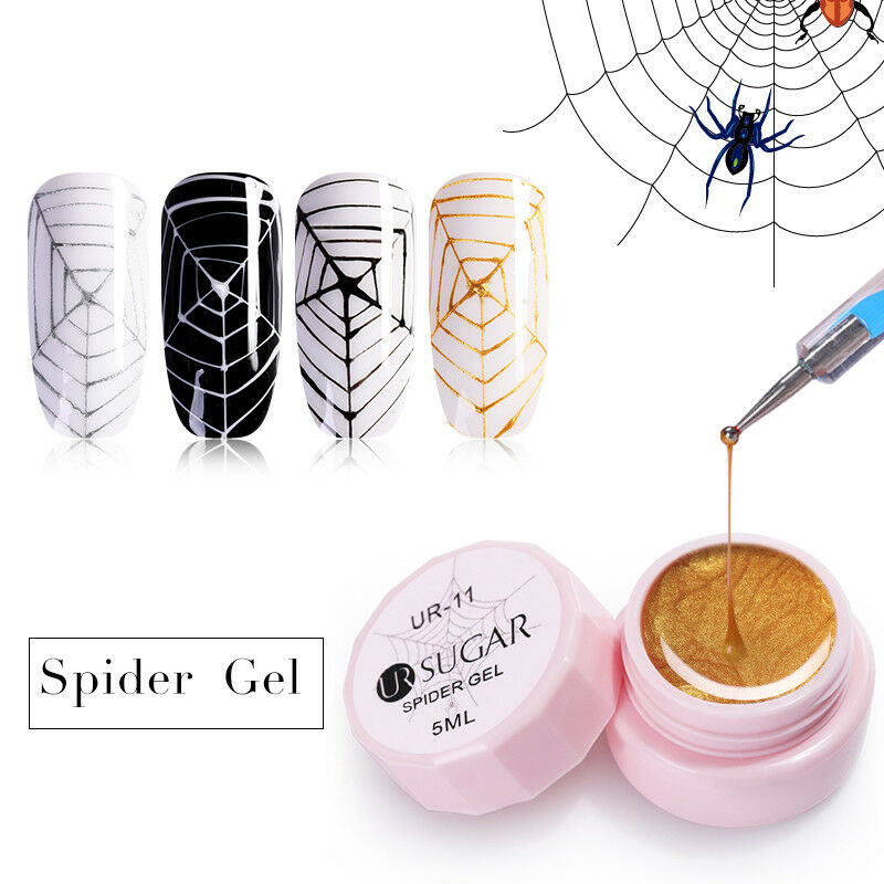 UR SUGAR 5ml Spider UV Gel Polish Elastic Drawing Soak Off Gel Nail Art Manicure 9
