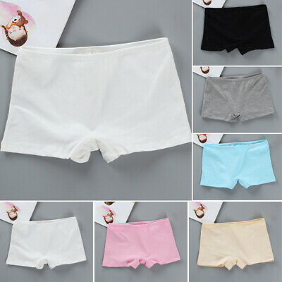 Kids Girls Teens Boxer Shorts Panties Briefs Knickers Cotton Comfy Underwear 6