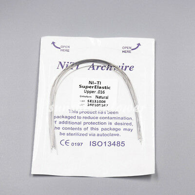 Dental Orthodontic Super Elastic Niti Round Arch Wire Natural Form 12-20 U/L 7