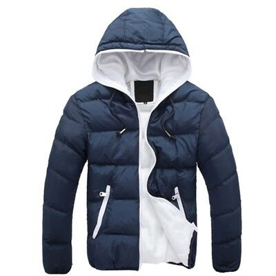 Mens Winter Warm Ski Jacket Snow Thick Casual Loose Hooded Puffer Coat Outwear