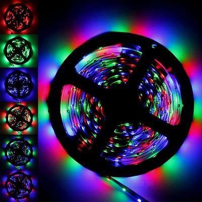 5M 3528 RGB 300 Led SMD Flexible Light Strip Lamp/44 key IR/12V 2A Power Supply 4