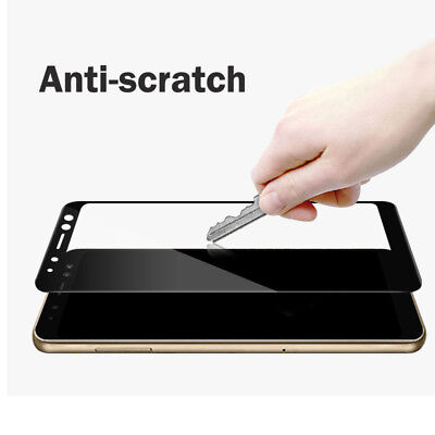 3D Full Cover 9H Tempered Glass Screen Protector For Samsung Galaxy A8 A8+ 2018 7