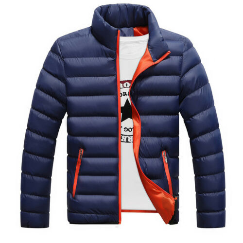 Men's Winter Lightweight Down Jacket Quilted Padded Puffer Coat Outwear Overcoat 5