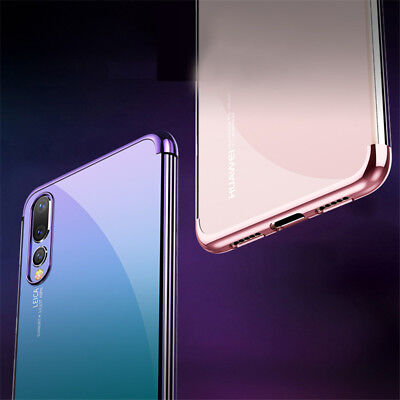For Huawei P Smart 2019/ P30 P20 Lite Pro Plating Silicone Hybrid Case Cover 10