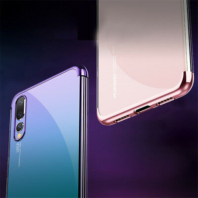 For Huawei P Smart Plus 2019/ P20 Lite Pro Plating Silicone Hybrid Case Cover 10