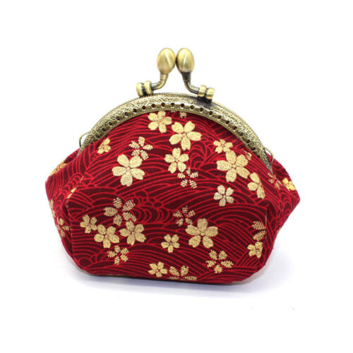 Collectable Handmade Japanese Style Fans Clasp Coin Purse Bag Change Wallets G 9