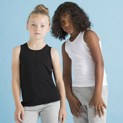 SF Mini Kids Feel Good Stretch Vest SM123 - Junior Cotton Sleeveless Tank Top 3
