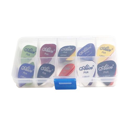 24-100PCS Acoustic Electric Guitar Picks Plectrum Various 6 Thickness with Case 5