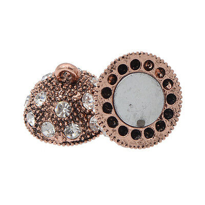 5 Pcs Crystal Rhinestone Pave Round Ball Magnetic Clasp Strong Connector Closure 6