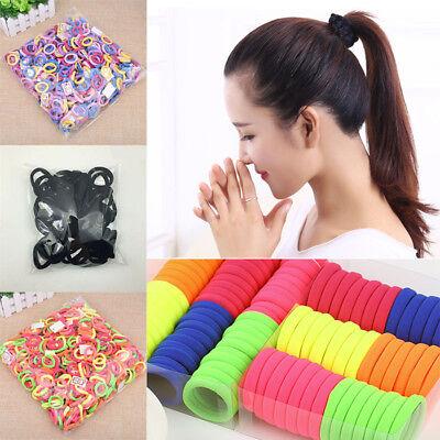 50/100x Women Girls Hair Band Ties Rope Ring Elastic Hairband Ponytail Holder # 3