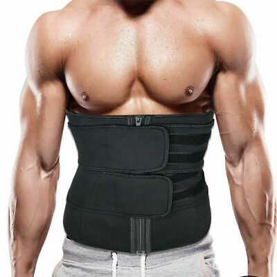 Men Abdomen Fat Burner Tummy Control Body Shaper Waist Trainer Sauna Sweat Belt 3