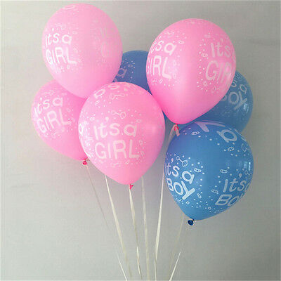 Paquet de 10 à 12 ballons en latex bébé fille / garçon ours bébé douche ball I-n 2