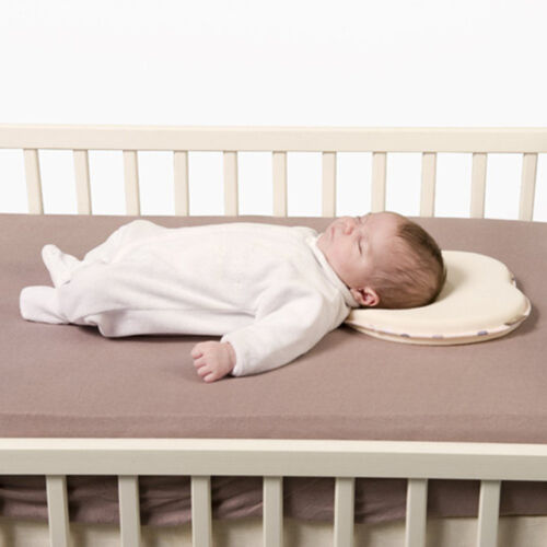 Newborn Baby Infant Memory Foam Pillow Anti Roll Prevent Flat Head Neck Support