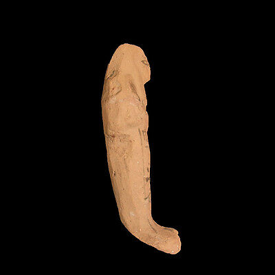 Egyptian Pottery ushabti with hieroglyphs New Kingdom 1293-1069 B.C.   a7964