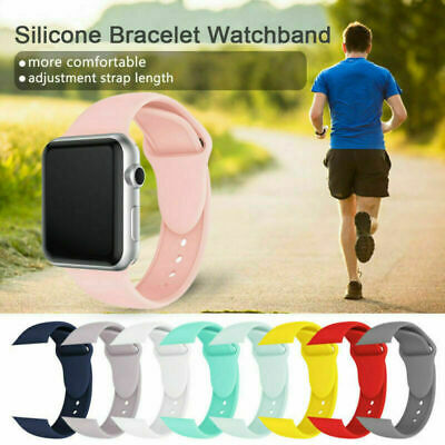 Replacement Silicone Soft Strap Band For Apple Watch Series 5/4/3/2 38/40/42/44 5