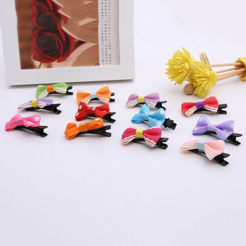 10PCS Bows Snaps Hair Clip Girls Baby Kids Hair Accessories Alligator Clips Gift 3