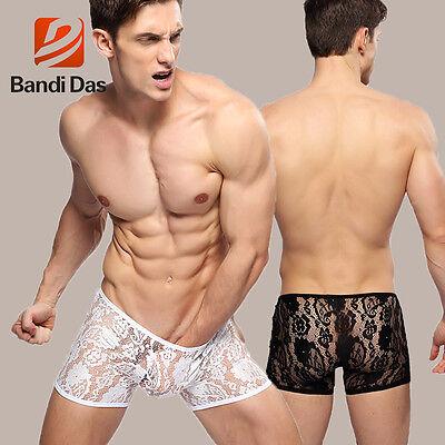 Boxer Dentelles Transparent Sexy Homme Thong Man Underwear Uomo Lenceria 10