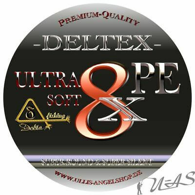 DELTEX Ultra Soft Rot 0,30mm 22.70kg 300M 8 fach Rund Geflochtene Angelschnur