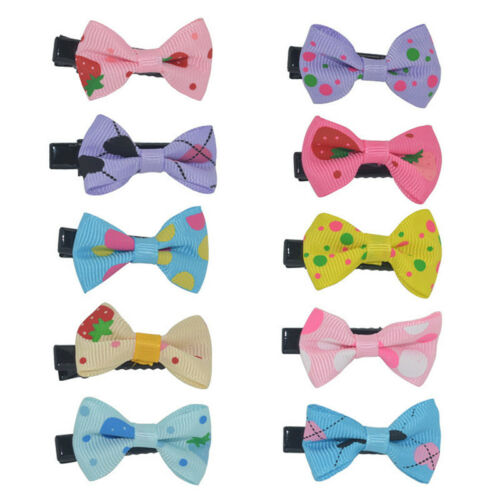 10PCS Bows Snaps Hair Clip Girls Baby Kids Hair Accessories Alligator Clips Gift 2