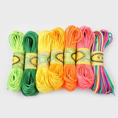 20 Meters 2mm Rattail Satin Silk Cord Nylon Macrame Beading kumihimo String 2