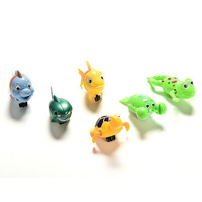 Wind-up Frog Swimming NPol Bath Time Animal Clockwork Floating Kid Baby Toy TWUK 5