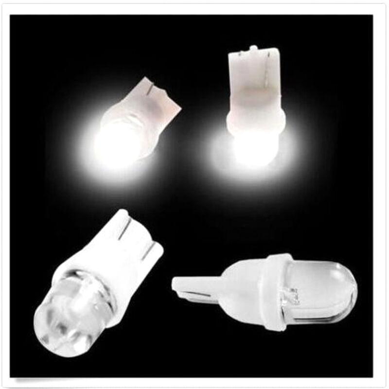 10Pcs DC 12V 5W T10 194 168 158 W5W 501 White LED Side Car Wedge Light Lamp Bulb 7