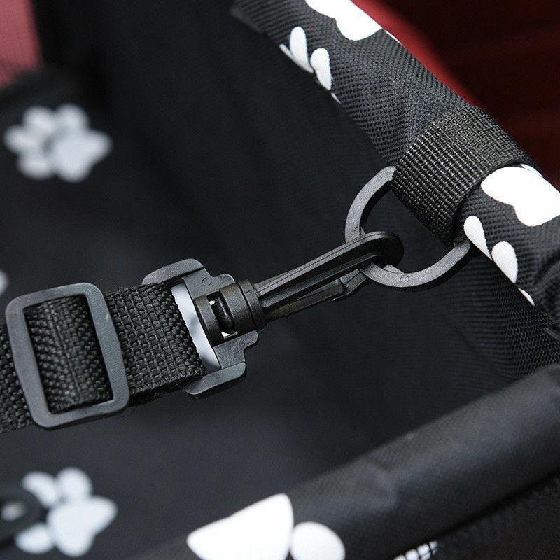 Folding Pet Dog Cat Car Seat Travel Carrier Puppy Handbag Side Bag Safety Basket 11