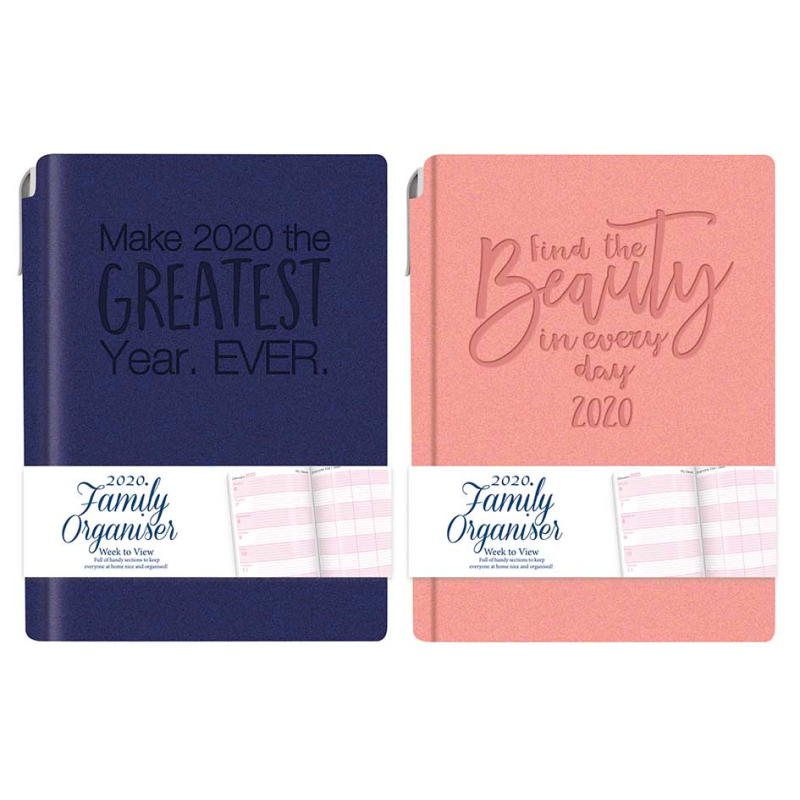 2020 Diary Pocket Small Week to View with Metal Edge Red